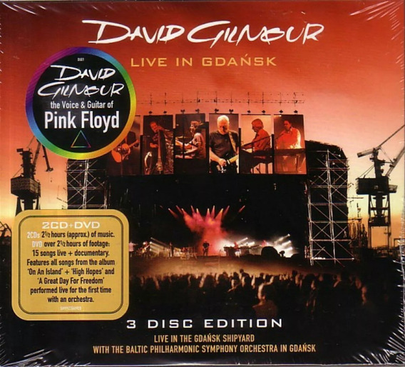 David Gilmour Live In Gdansk 2 Cd + Dvd Nuevo Pink Floyd
