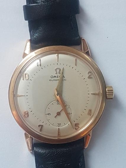 Relogio Omega Vintage Automatico Em Ouro 18 K