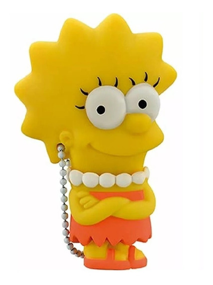 Pendrive 8gb Colecionável Simpsons - Lisa Pd072
