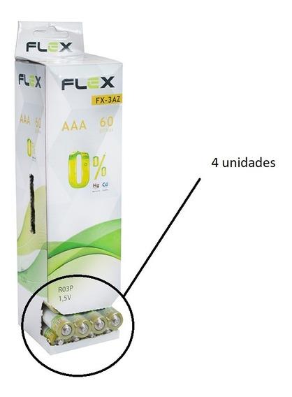 Pilha Aaa Zinco C/ 4unid Fx-3az Flex