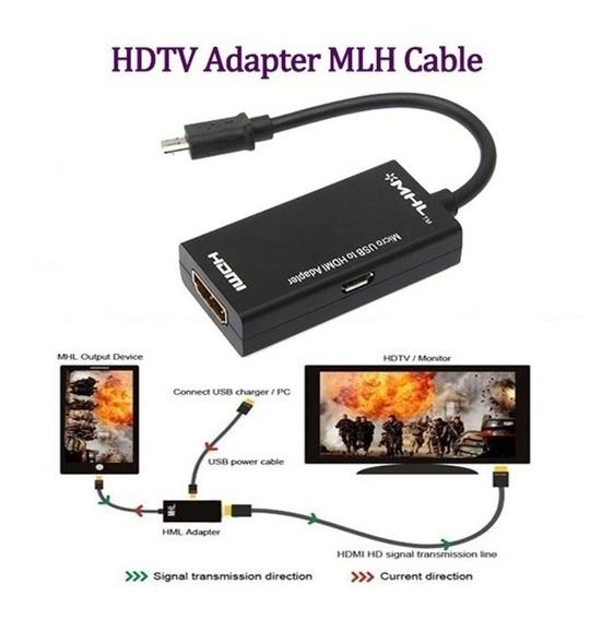 Adaptador Micro Usb Mhl P/ Hdmi - Celular P/ Tv Frete Grátis
