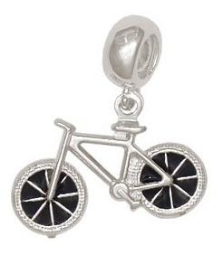 Imagem 1 de 1 de Berloque Prata Bicicleta Dupla Com Resina