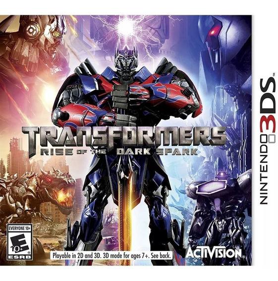 Jogo Transformers Rise Dark Spark Nintendo 3ds Mídia Física