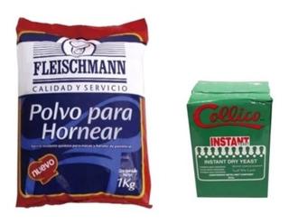 Pack Levadura Instantanea 500 Grs + Polvo De Hornear 1 Kilo