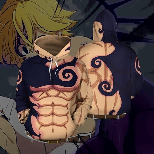Sudadera Hoddiefullprint Meliodas Anime 7 Pecados Capitales3