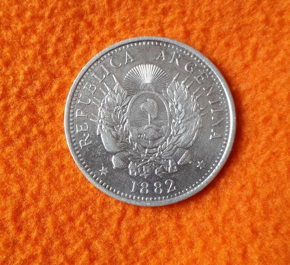 Moneda De Plata 50 Centavos De Patacon Año 1882