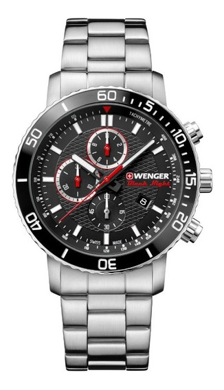 Reloj Suizo Wenger Roadster Black Night - Original En Caja