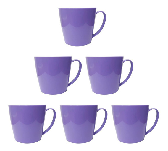 Tazas De Plástico Varios Colores X6