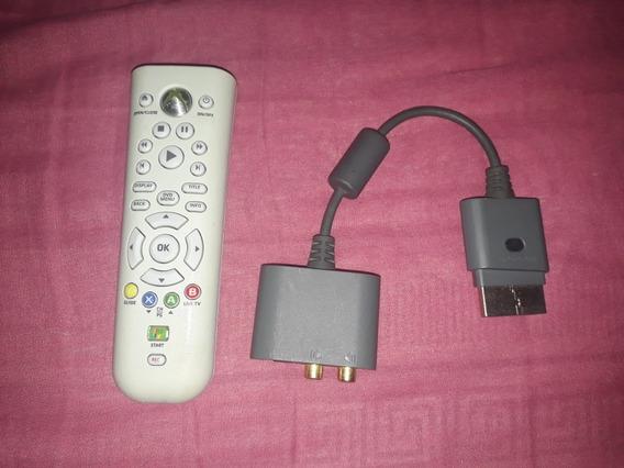 Controle Multimídia Xbox 360 + Adaptador De Áudio Usado