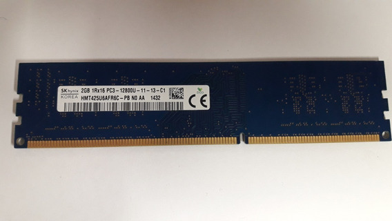 Memoria Pc Escritorio Ddr3 2gb Pc3-12800u Sk Hynix