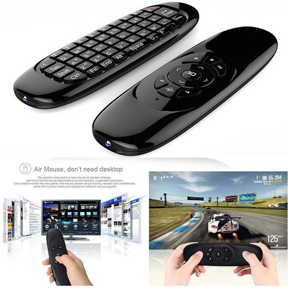 Controle Air Mouse Universal Mf100 2.4ghz Smart Tv Notebook