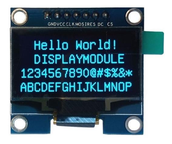 Display Oled 128x64 0.96 Spi Gráfico Arduino Azul