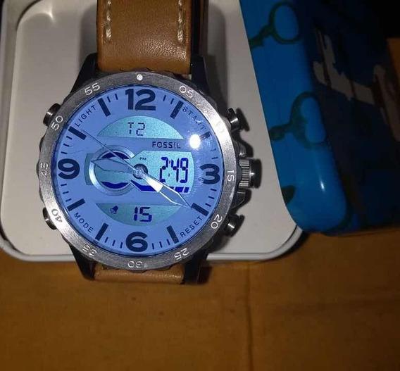 Relógio Fóssil Na Caixa Importado