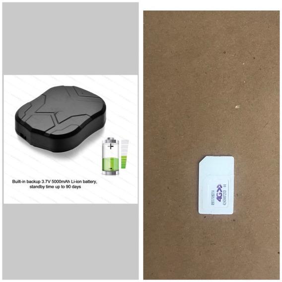 Rastreador Portátil Tk905 Com Super Imã + Chip