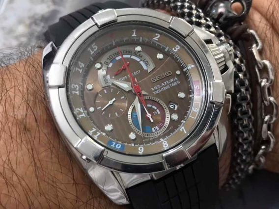 Seiko Velatura 7762-0cj0 Yachting Timer Wr100m Quartz Japan