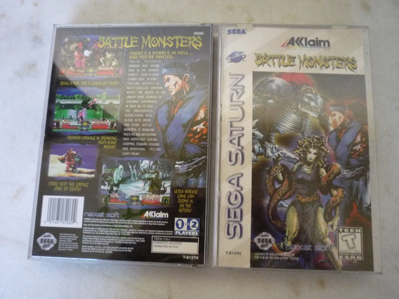 Jogo Battle Monsters - Completo - Saturno