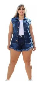 Colete Jeans Lindo Plus Size Do P Ao G5 Moda Feminina