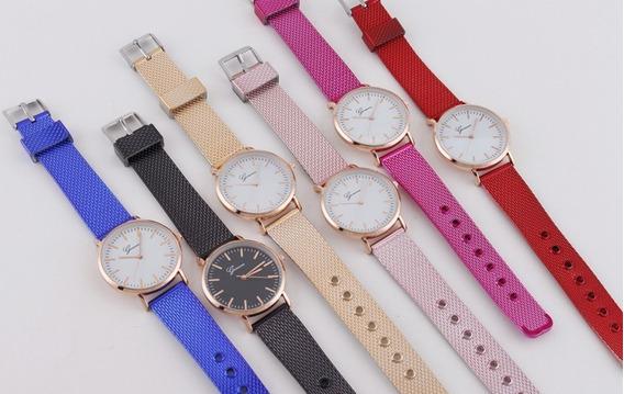 Reloj Dama Hermoso Malla Acero Inoxidable Moda Dama Lujoso