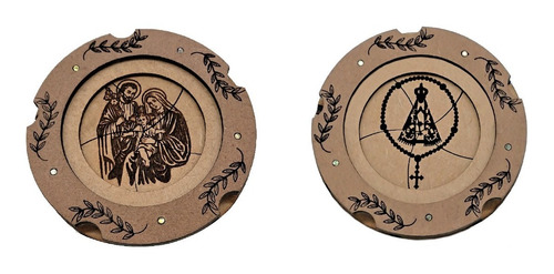 Imagem 1 de 4 de Porta-terço Duas Unidades Sagrada Família  N. Sra. Aparecida