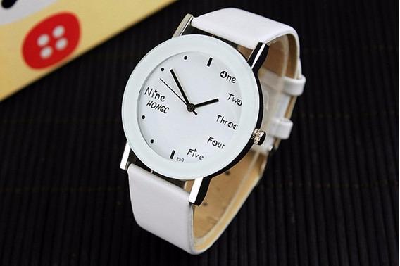 Relógio Feminino Com Números Em Inglês English Raro