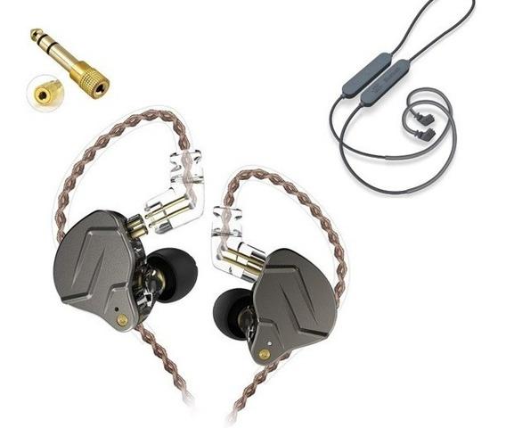Fone Kz Zsn Pro Sem Microfone + Cabo Bluetooth Apt-x + P10