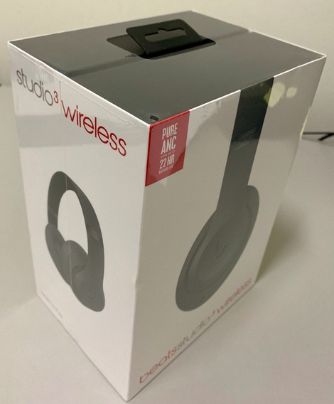 Fones De Ouvido Beats Studio 3 Wireless Headphone - Cinza