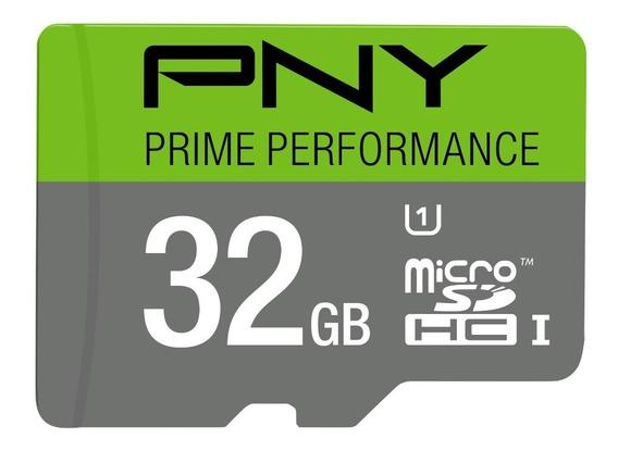 Pny Prime Cartão Memória Memory Card Micro Sd 32gb