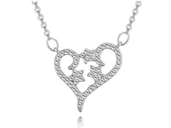 Collar Con Cristales Ocean Heart Oh18-312-baño De Oro