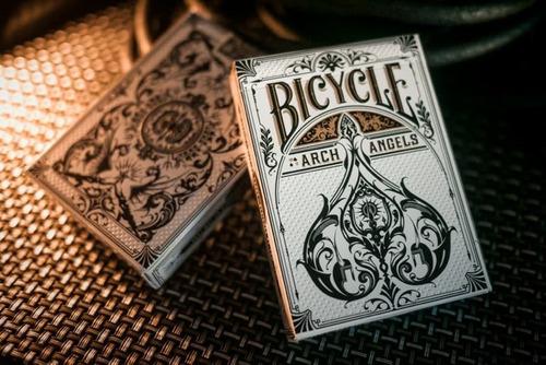 Baraja Cartas Bicycle Archangels Para Magia Y Poker - Blanca