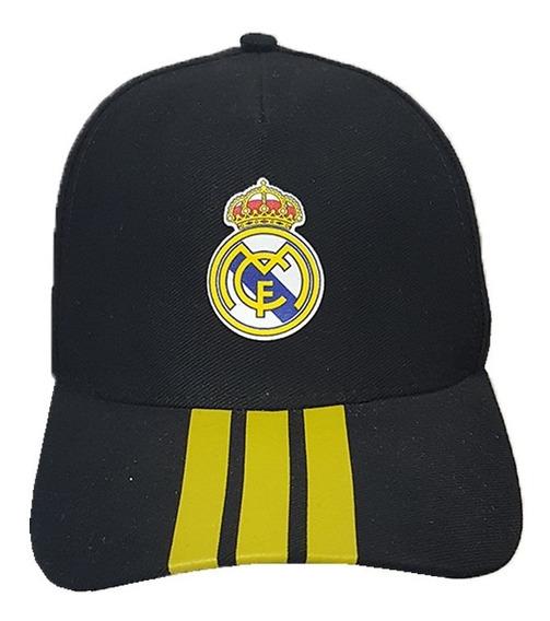 Gorra Fútbol Real Madrid Black Visera Curva