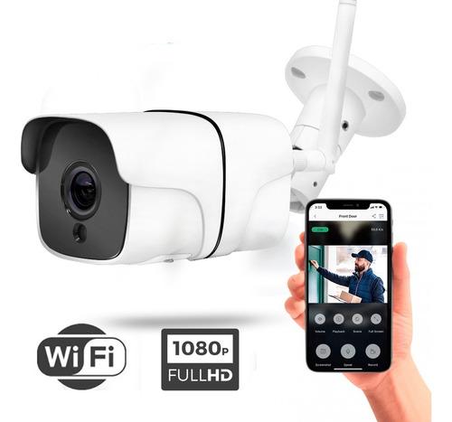 Imagen 1 de 8 de Cámara Ip Wifi 1080p Sinovision Exterior Audio Bid P2p Icsee