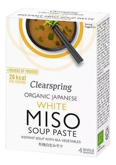 Pasta Miso Blanca Instantánea Clearspring Japonesa Orgánica
