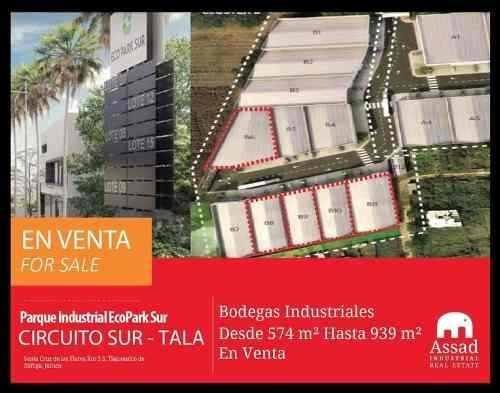 Bodegas Industriales En Venta - Circuito Metropolitano Sur Tala / Tlajomulco - Parque Industrial Ecopark Sur - Desde 554 Hasta 939 M2