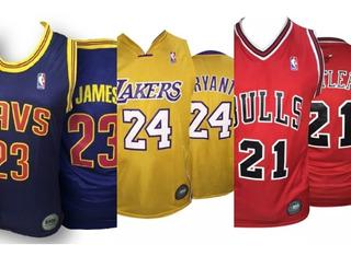 Camiseta Basquet Nba Lakers Chicago Bulls Cleveland Olivos