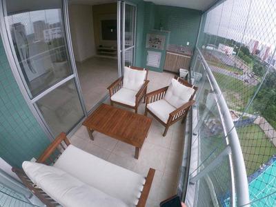 Gran Vista 117m2, Semi Mobiliado, Ponta Negra - Ap0384