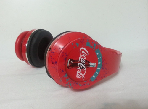 Coca Cola Audífonos Flexibles Inalambricos Mp3 Bluetooth