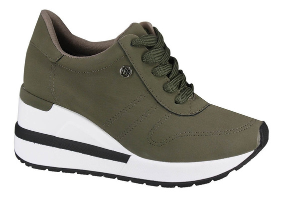 Tênis Feminino Sneakers Verde/militar Via Marte - 193322