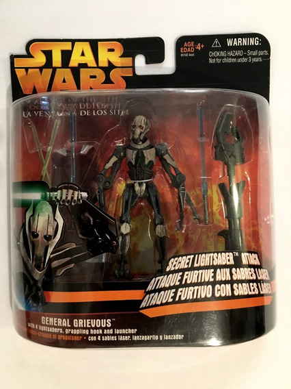 General Grievous With 4 Lightsabers Grappling Hook Star Wars