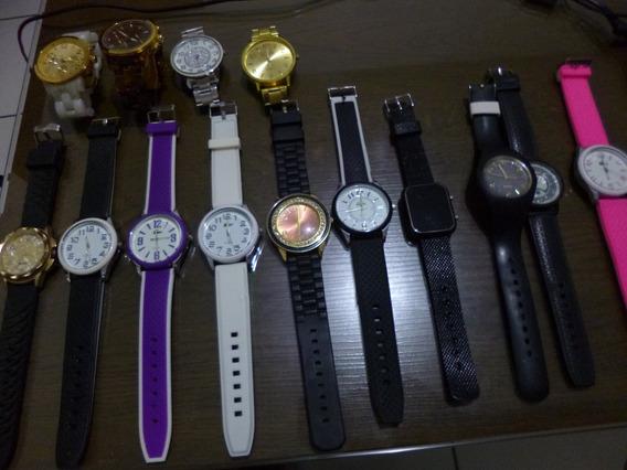 Lote De 14 Relógios Femininos Diversos No Menor Valor