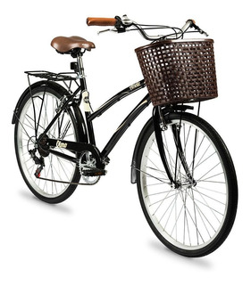 Bicicleta Olmo R26 Paseo 6v Dama Ameliet18 Negra