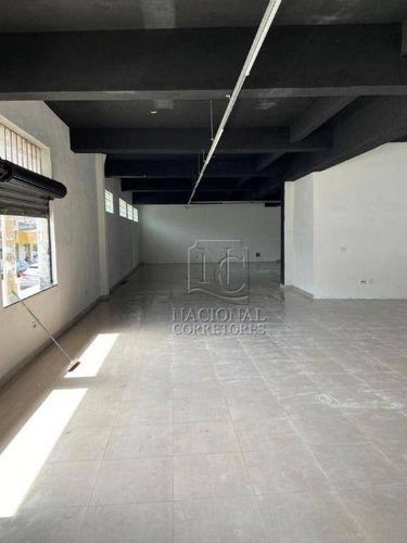 Imagem 1 de 20 de Salão Para Alugar, 250 M² Por R$ 5.000,00/mês - Utinga - Santo André/sp - Sl0837