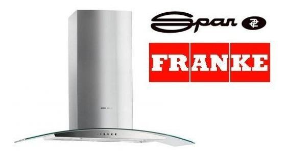Campana Cocinas Franke Spar Ray 90cm Vidrio Acero Completa