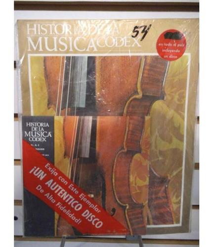 Historia De La Musica Codex 54 Fasiculo Y Disco Lp Acetato