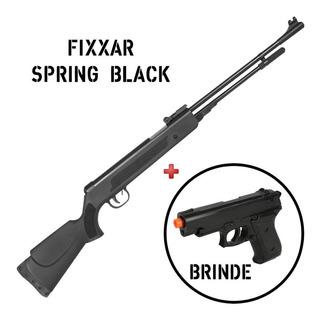 Carabina Pressão Chumbinho Fixxar Black 5.5 + Pistola Brinde