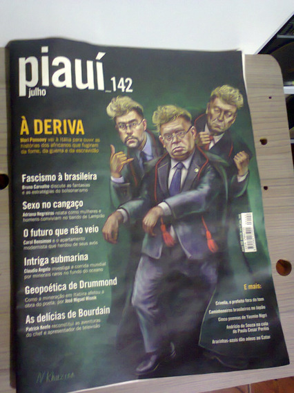 Revista Piauí Ed. 142 ( Jul 2018 ) Bourdain, Drummond, Etc