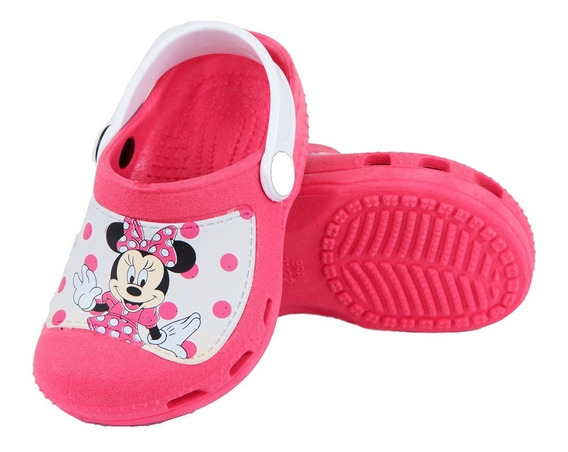 Crocs Sandália Chinelo Infantil Feminino Minnie