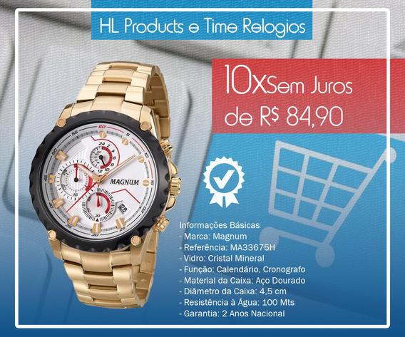 Relogio Magnum Cronografo Ma33675h