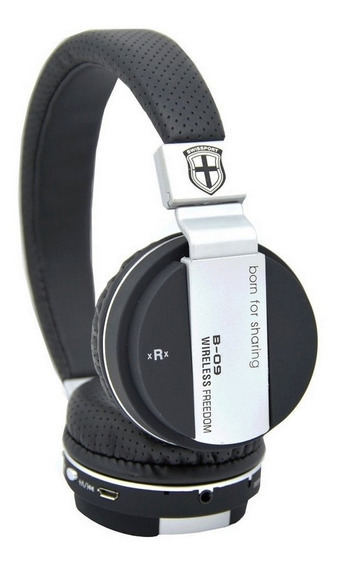 Headset Bluetooth B09 Entrada Cartão Original Pronta Entrega