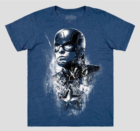 Máscara De Latex Playera Avengers Endgame Capitan America
