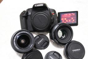 Canon T3i Ou T4i + 50mm + 18-55mm + Bolsa De Brinde